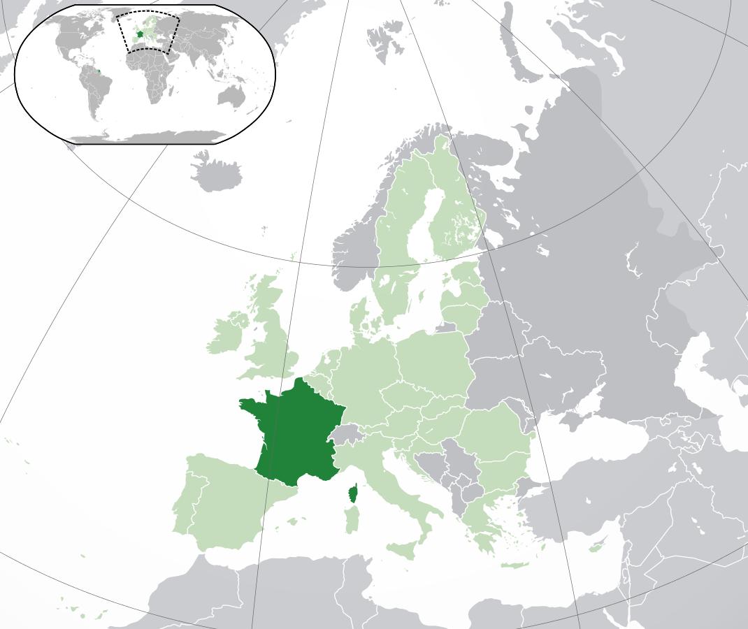 Kartor Over Frankrike Om Frankrike
