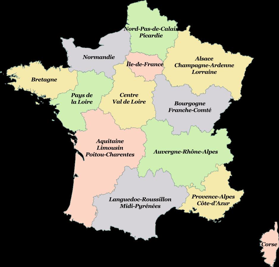 Frankrike Regioner