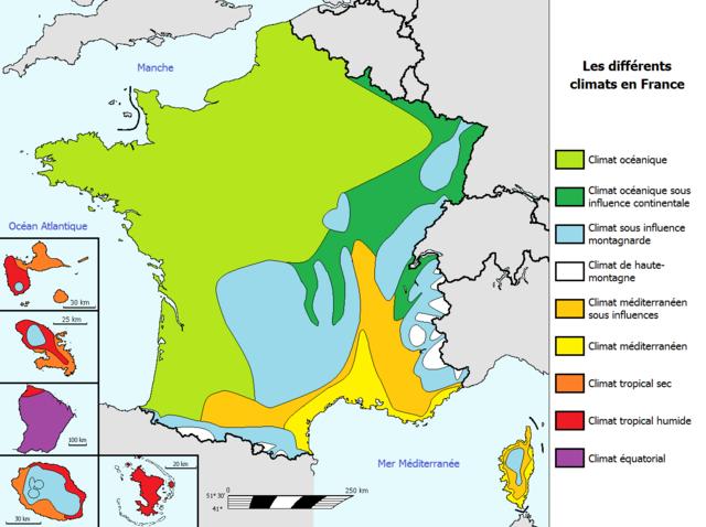 Klimat i Frankrike