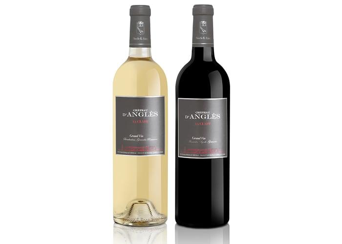 Château d'Anglès Grand Vin Blanc 2015 och Château d'Anglès Grand Vin Rouge 2013